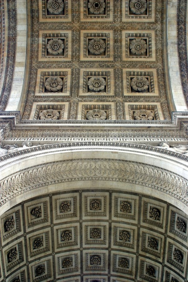 Divided - geteilt. Ceiling of an old building in Paris, France royalty free stock images