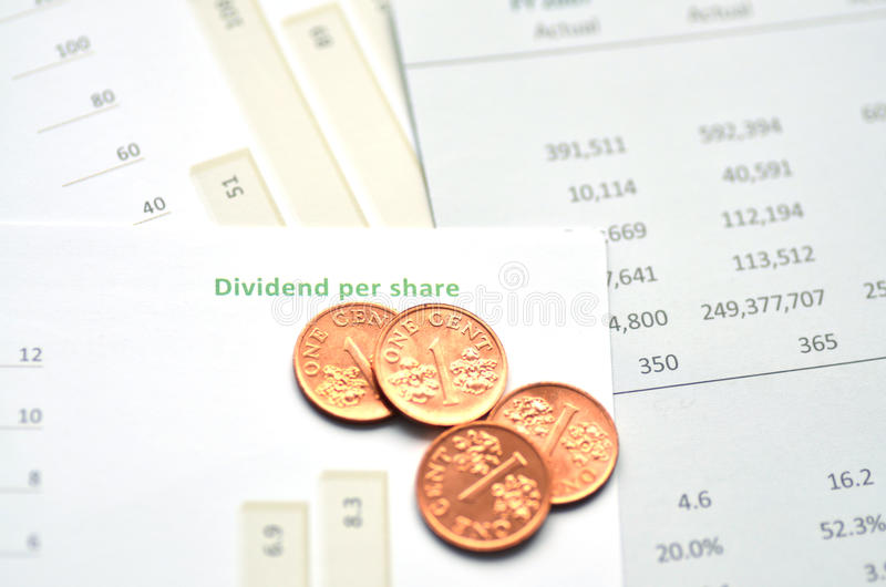 Dividend Per Share. Growth Charts royalty free stock images