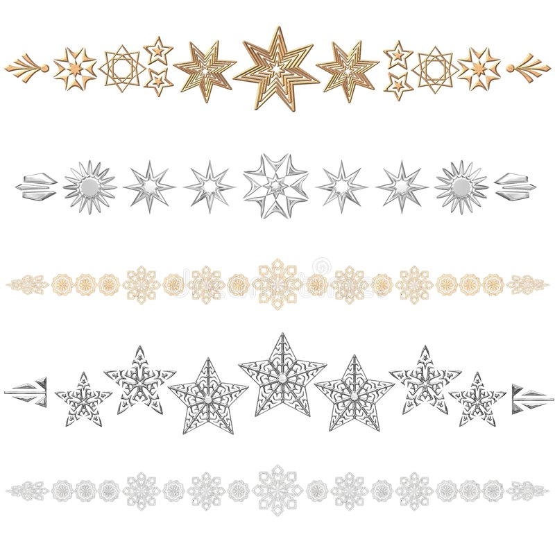 divider gwiazdy royalty ilustracja