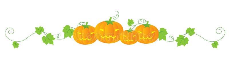 divider Halloween ilustracja wektor