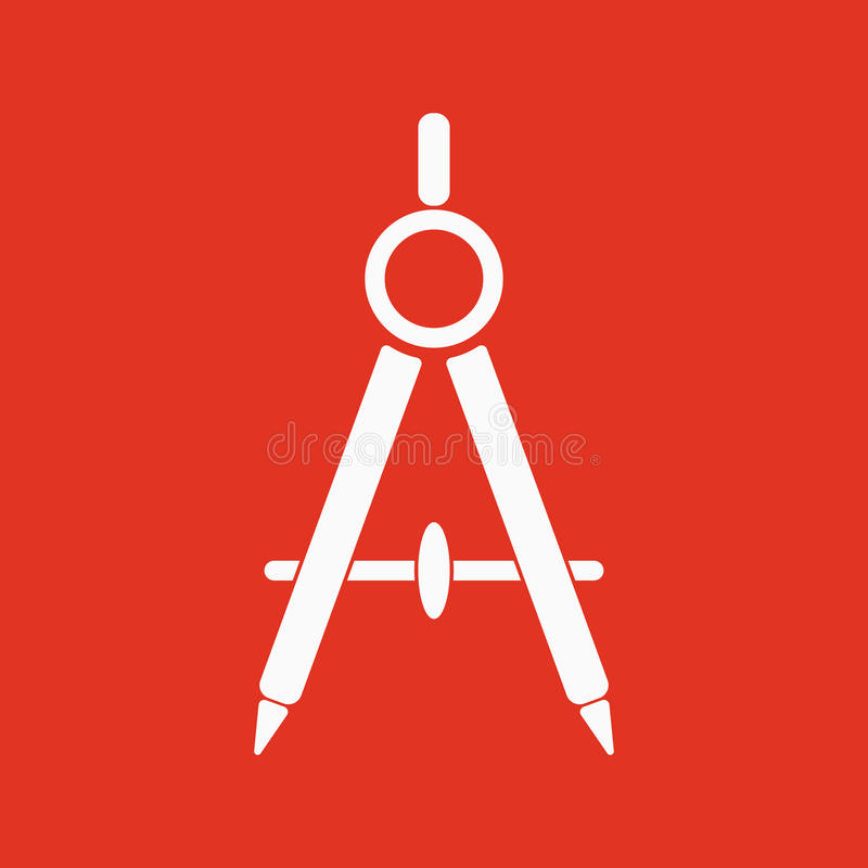 Divider ikona Geodeta i geometria, inżynier, architekt, szkolny symbol mieszkanie ilustracja wektor