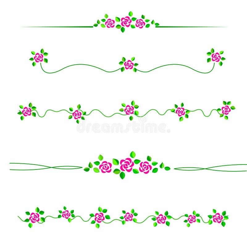 divider kwiat royalty ilustracja