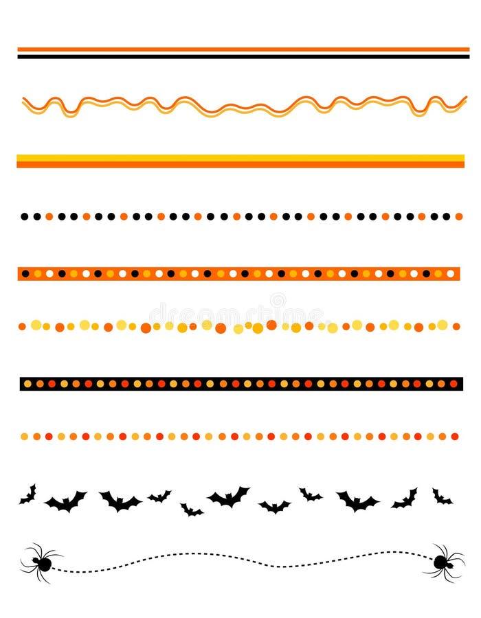 divider ramowy Halloween royalty ilustracja