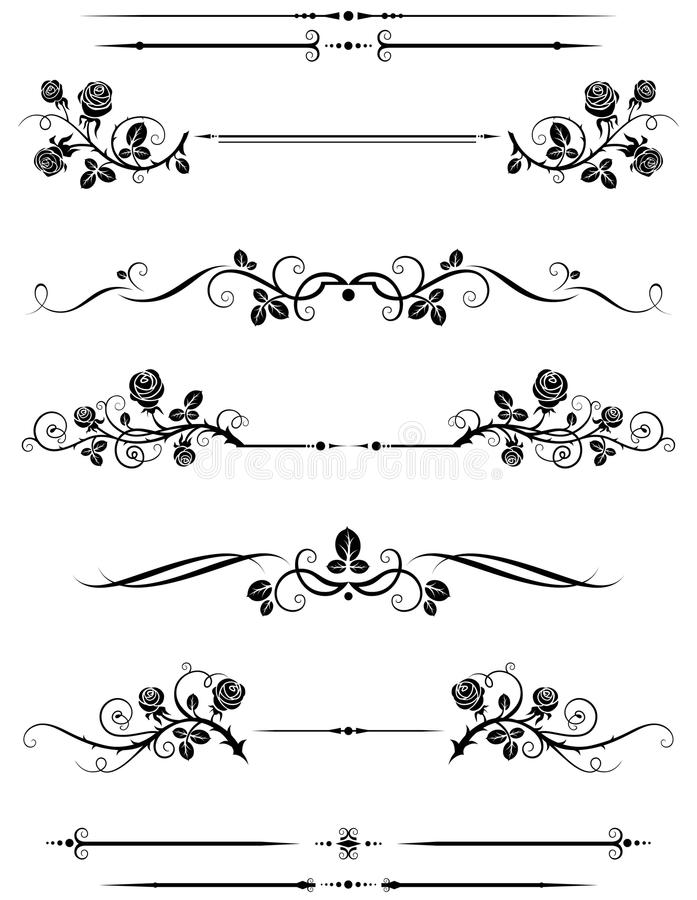 Download Dividers and borders stock vector. Illustration of elegance - 15566025
