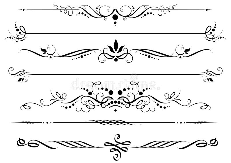 Download Dividers and borders stock vector. Image of scroll, fashioned - 17246336