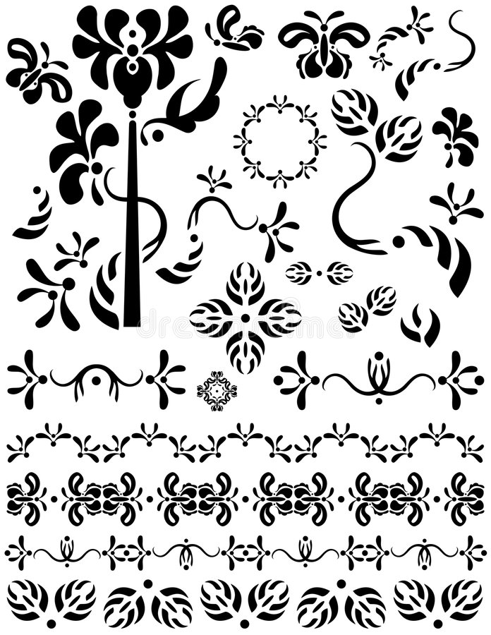 Download Dividers, Decorations, Ornaments And Separators. Stock Vector - Image: 8939897