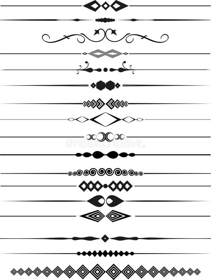 dividers dekoracyjna strona ilustracja wektor