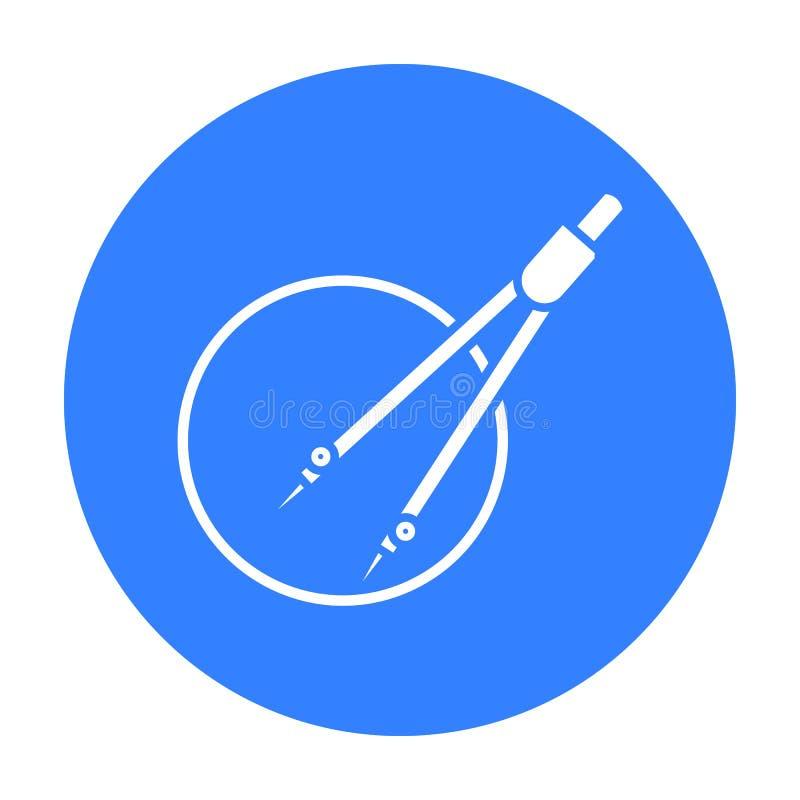 Dividers ikony czerń Pojedyncza edukaci ikona od dużej szkoły, uniwersyteta czerń ilustracja wektor