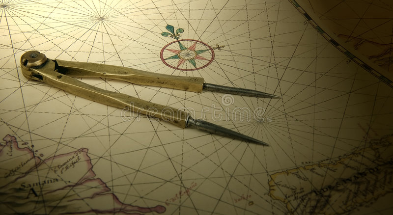 Dividers on a map stock images