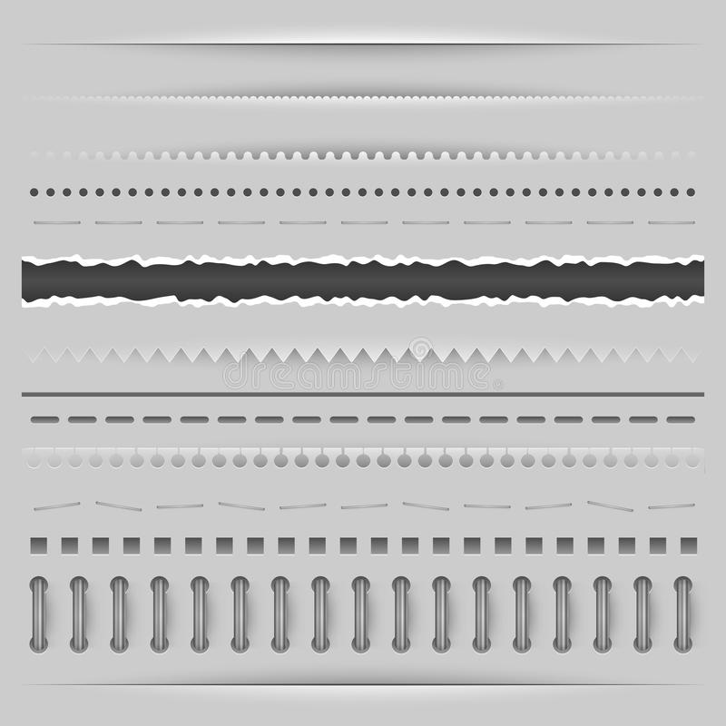 Dividers template stock illustration