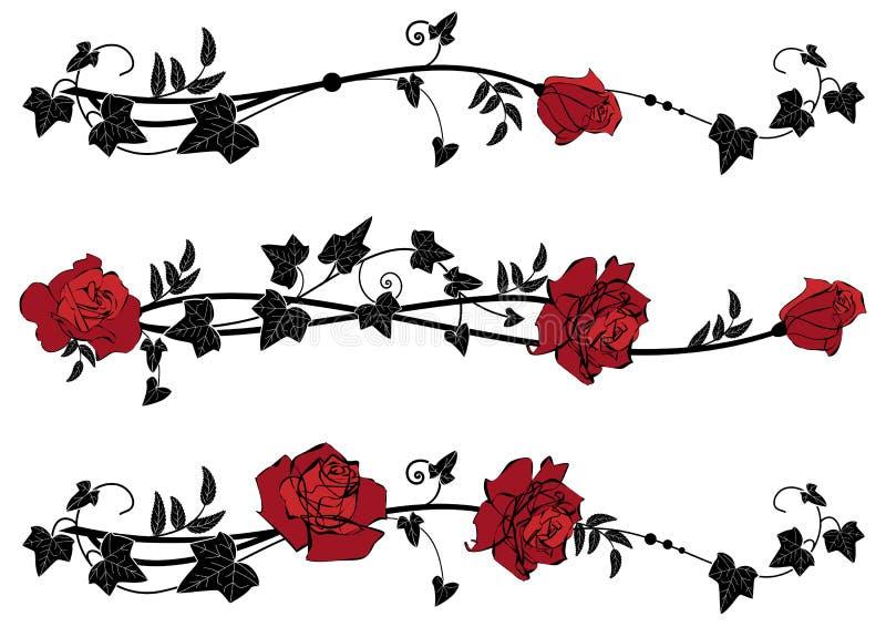 Dividers z różami i bluszczem ilustracji
