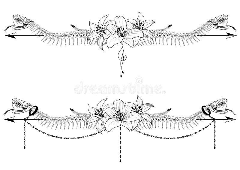 Dividers z wężem i lelują ilustracji