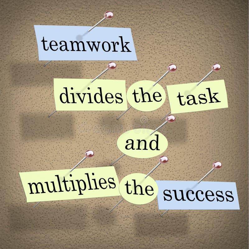 divides multiplicerar framgångsuppgiftsteamwork stock illustrationer