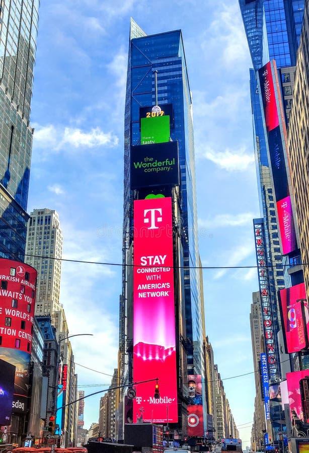 Dividor de New York City del Times Square foto de archivo libre de regalías