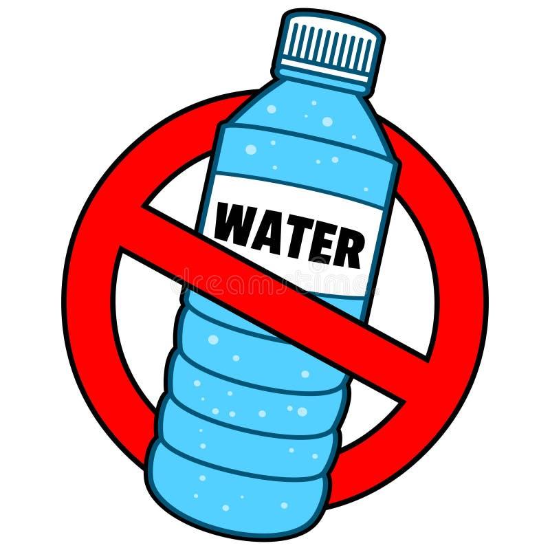 Divieto della bottiglia di acqua illustrazione vettoriale