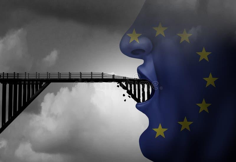 Divieto di immigrazione di Europa illustrazione vettoriale