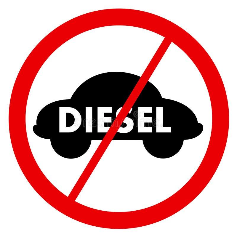 Divieto diesel royalty illustrazione gratis