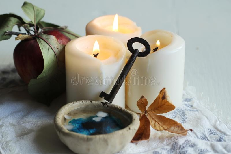 Divination του κεριού στοκ φωτογραφίες με δικαίωμα ελεύθερης χρήσης