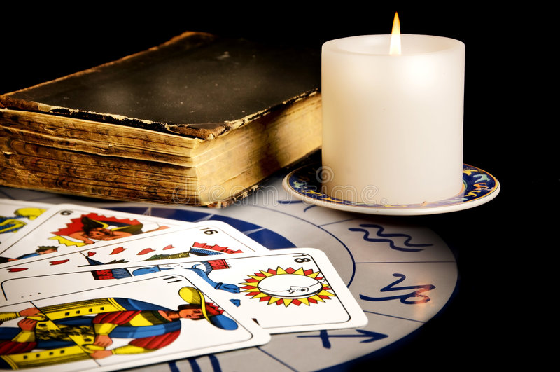 Divination esotérico imagens de stock
