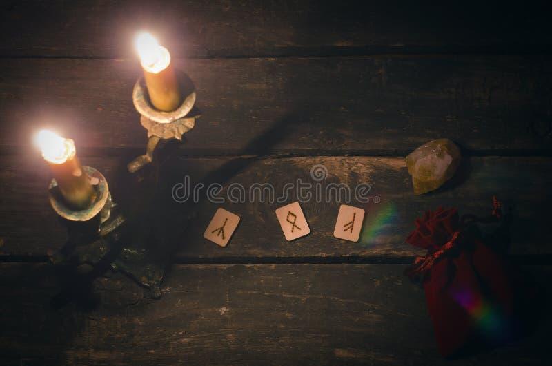 Divination Rune каменный стоковые фото