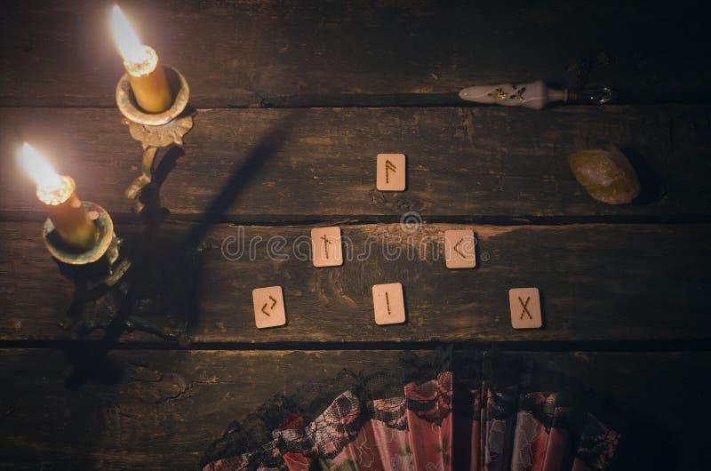 Divination Rune каменный стоковые изображения