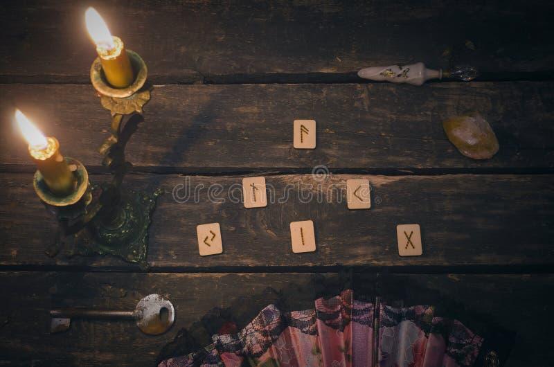 Divination Rune каменный стоковое фото rf