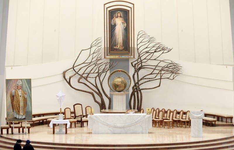 The Divine Mercy Sanctuary stock image