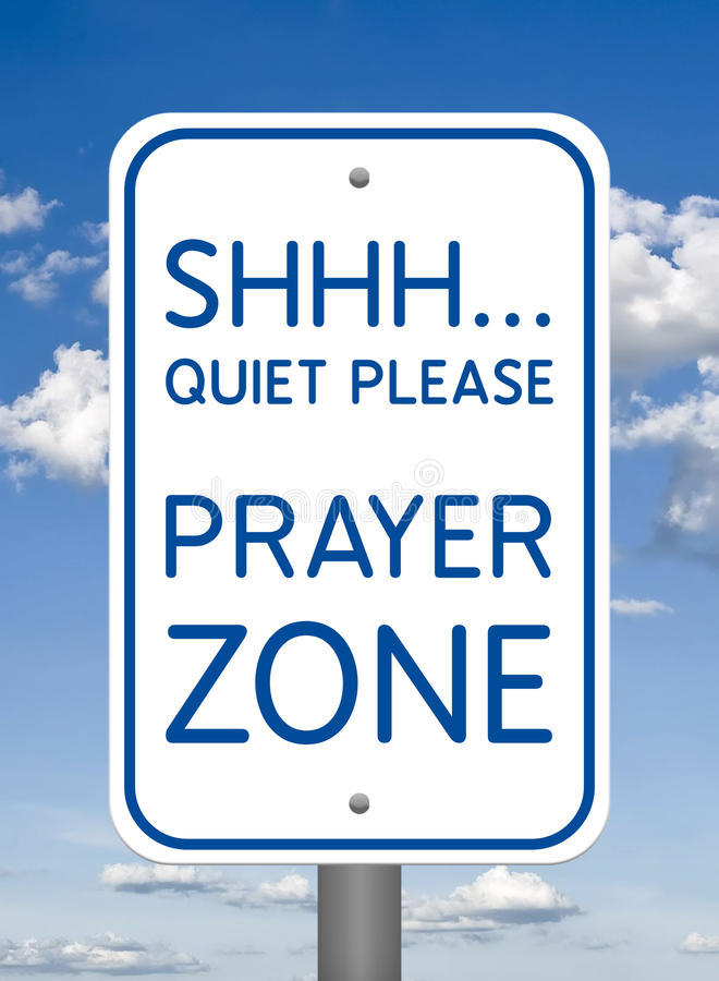 Divine Sign, Prayer Zone royalty free stock image