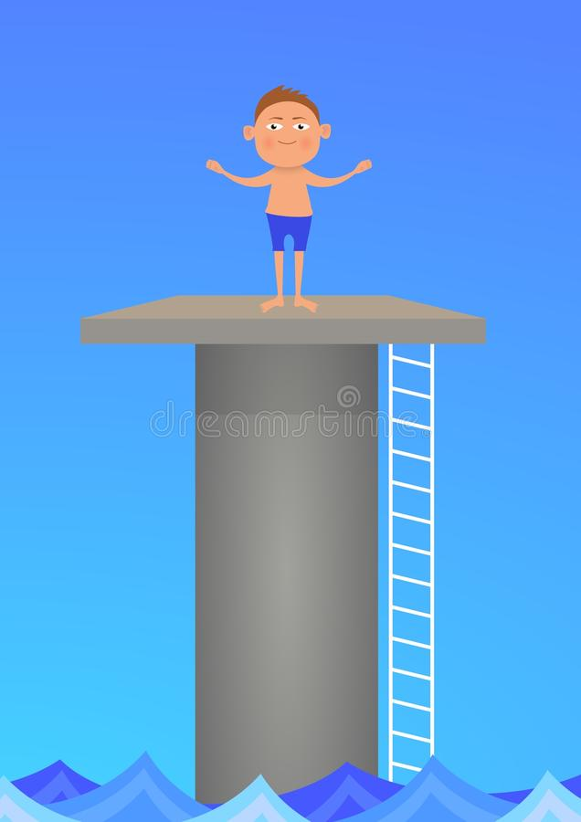Diving royalty free stock image