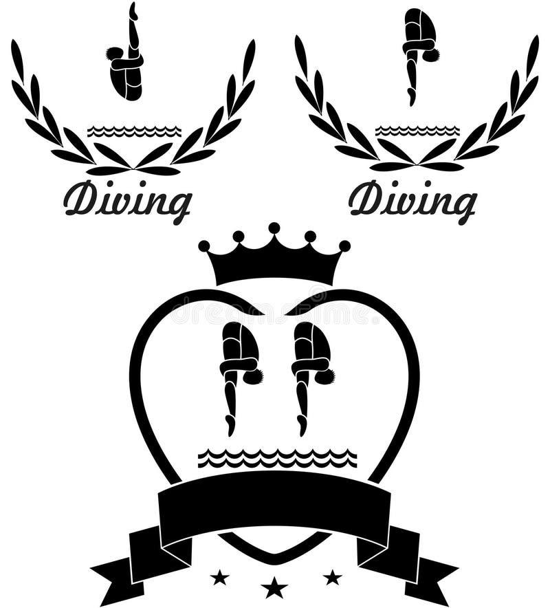 diving ilustração royalty free
