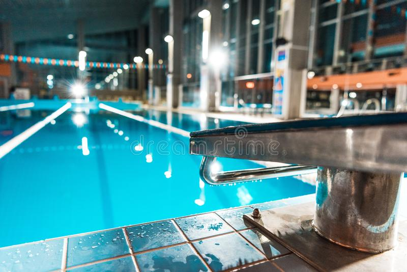 diving board at competition royalty free stock photo
