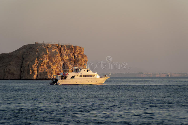 Diving boat in the red sea stock photo