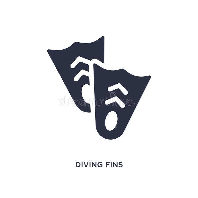 diving fins icon on white background. Simple element illustration from summer concept royalty free illustration