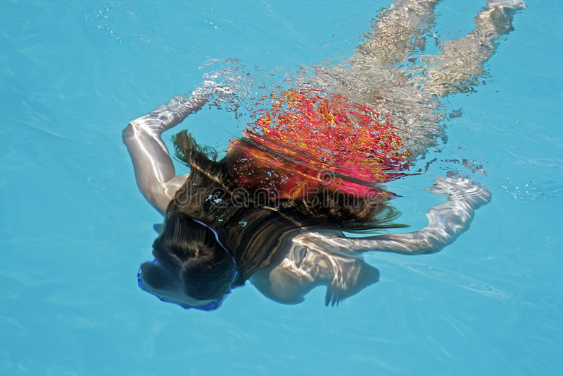 Diving Girl Stock Photo