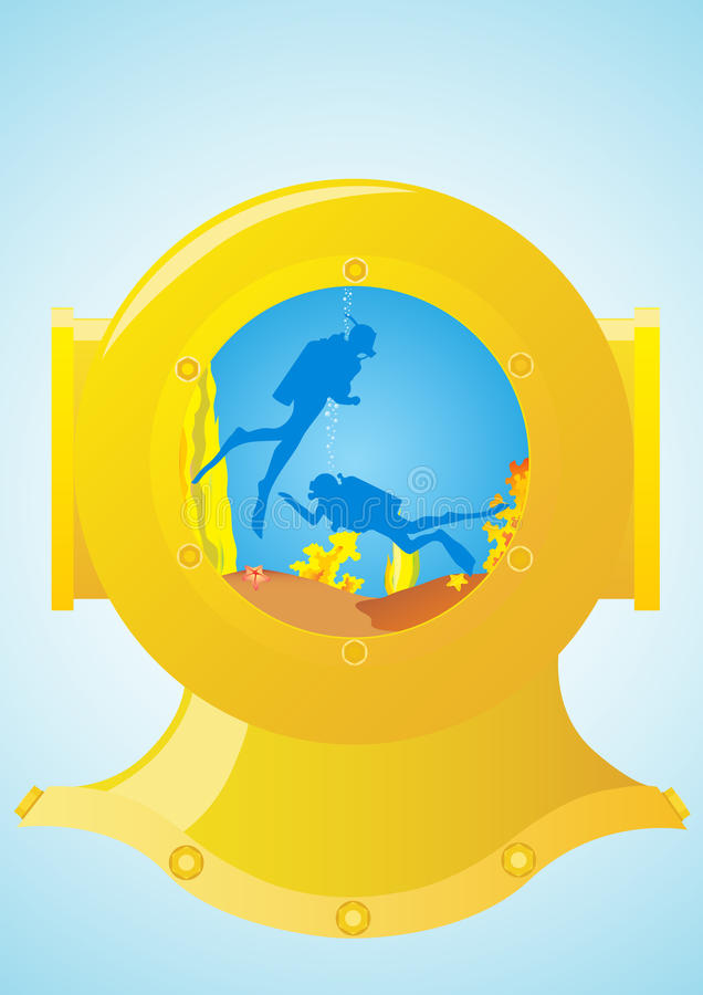 Download Diving Helmet And Scuba Divers Stock Vector - Image: 20692953