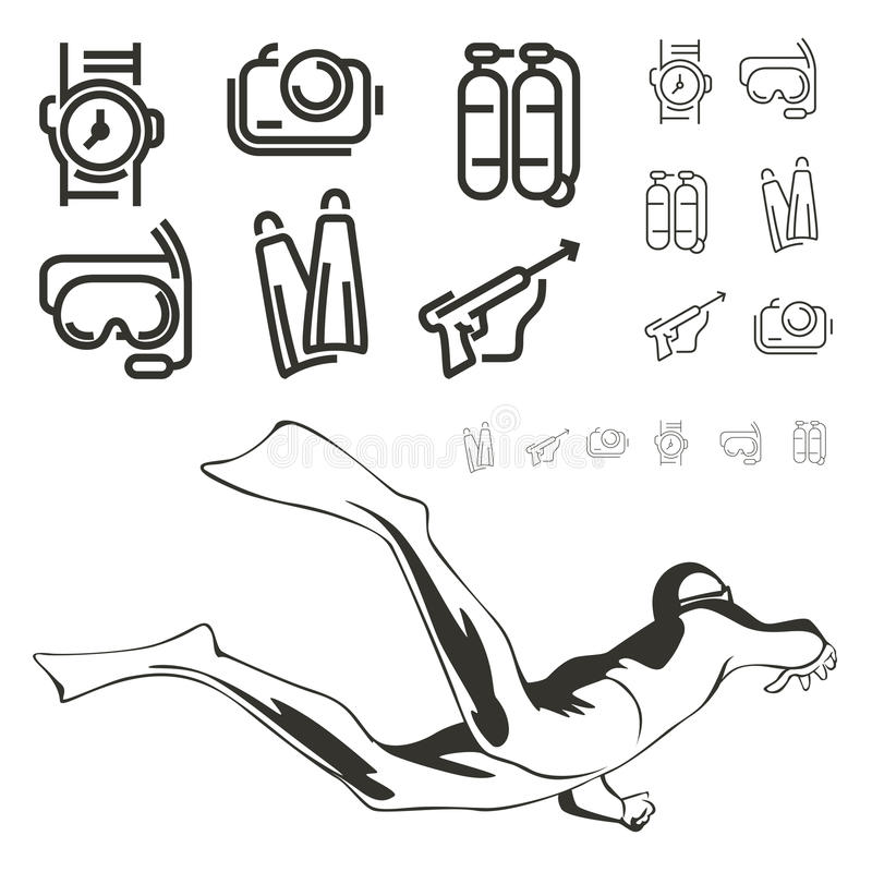 Diving icon royalty free illustration