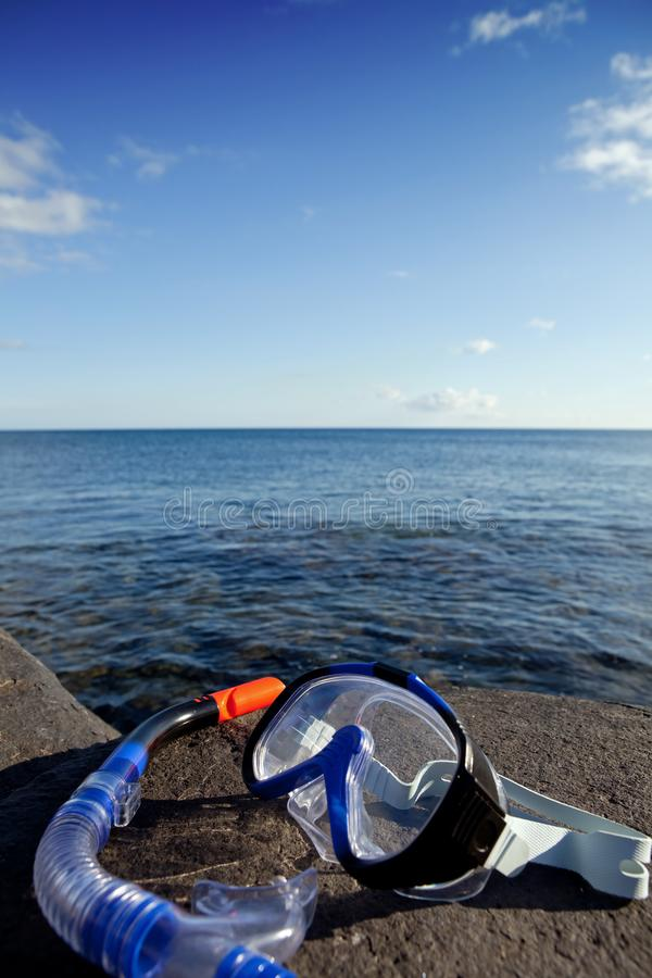 Download Diving mask and snorkel stock image. Image of equipment - 17674687