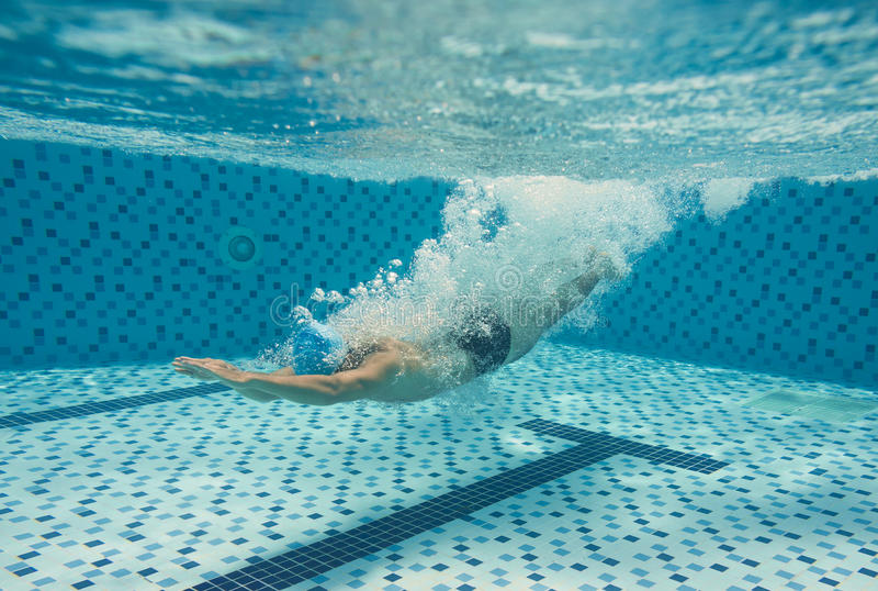 Download Diving in the pool stock image. Image of lifestyle, freestyle - 32194985
