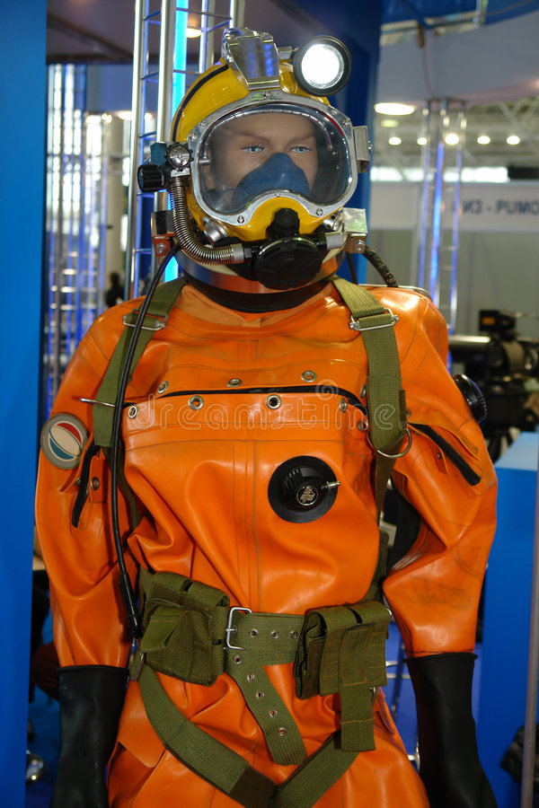 Diving-suit. Deep water navy diving suit stock photos