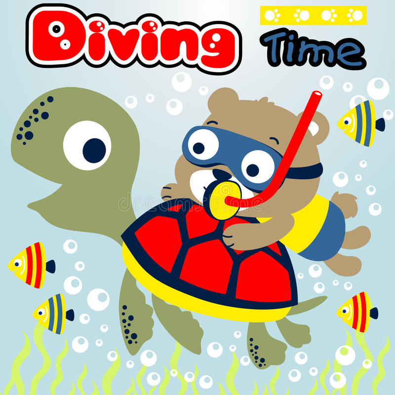 Diving time royalty free illustration