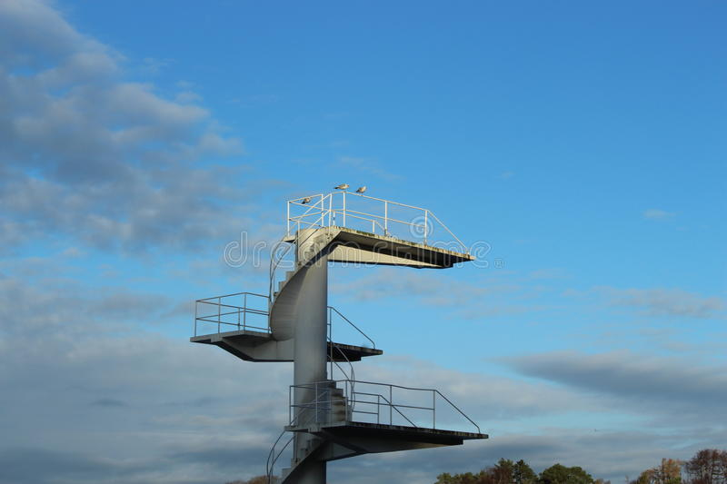 Diving tower stock image