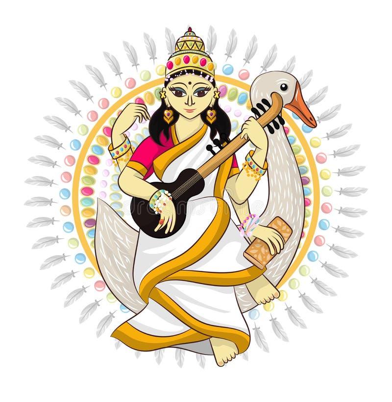Divinidad india del hinduism del vector de dios stock de ilustración