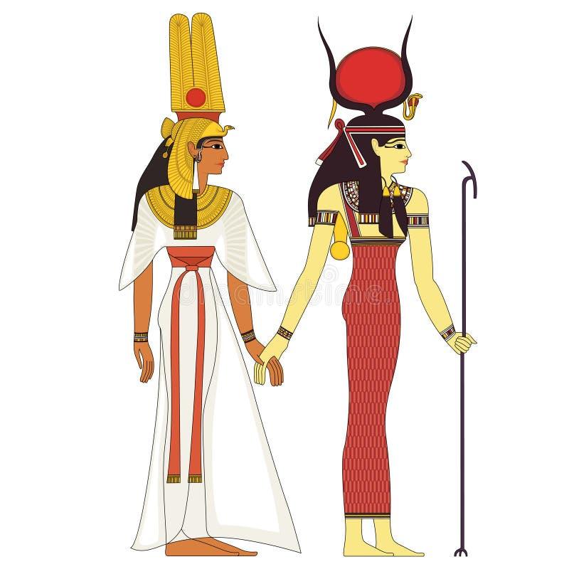 Divinità di egitto antico royalty illustrazione gratis