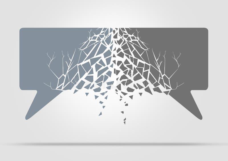 Divisão de comunicação ilustração royalty free