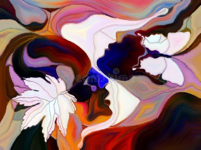 A divisão viva da cor ilustração do vetor