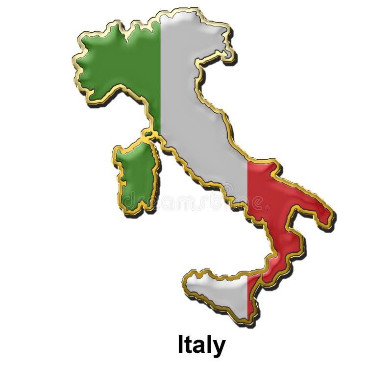 Divisa del contacto de metal de Italia libre illustration
