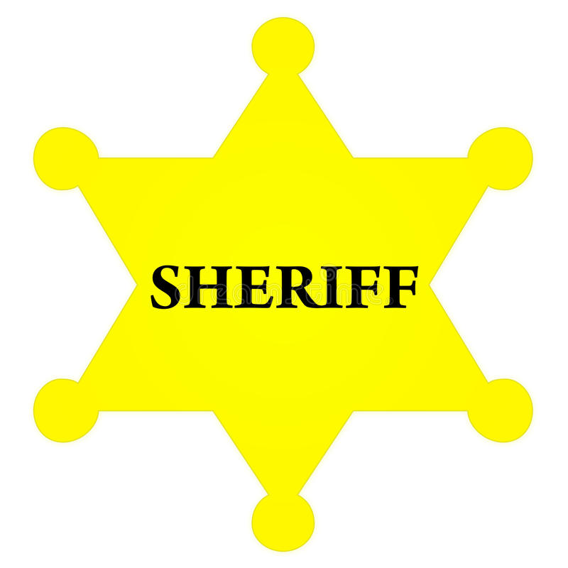 Divisa del sheriff libre illustration