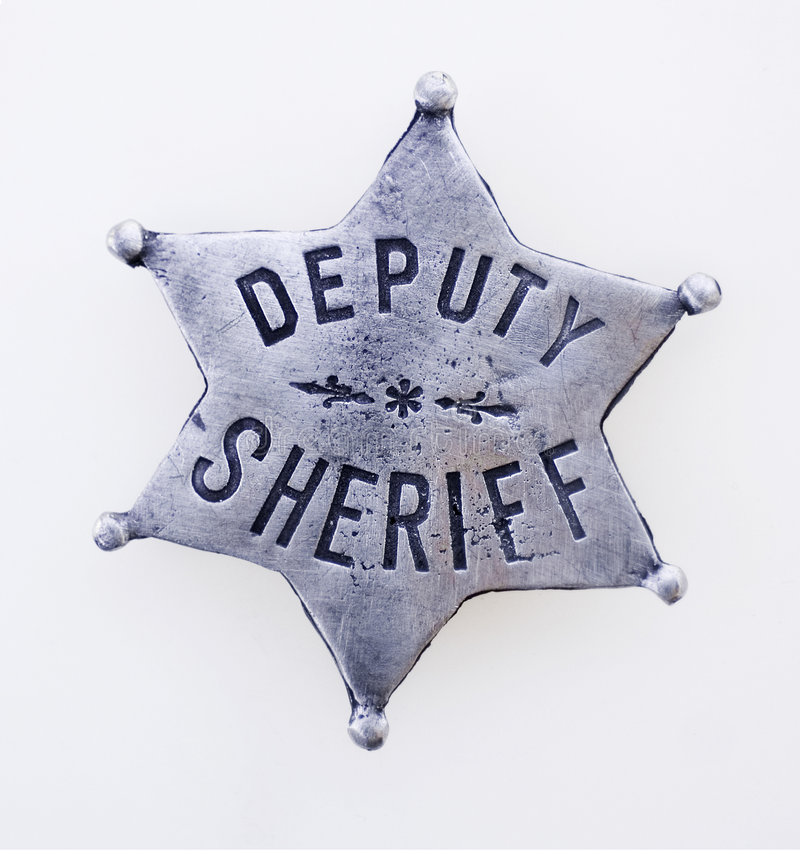 Divisa del sheriff foto de archivo libre de regalías