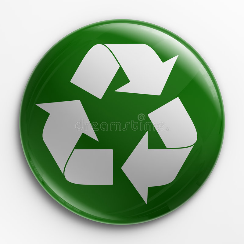 Divisa - recicle la insignia libre illustration
