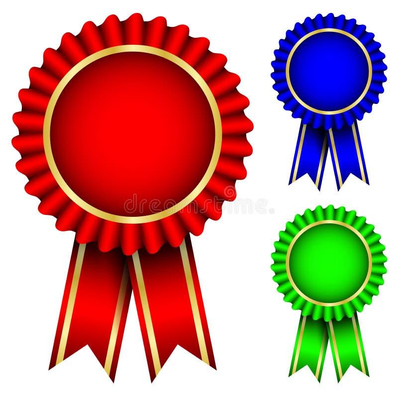 Divisas rojas, azules y verdes ilustración del vector